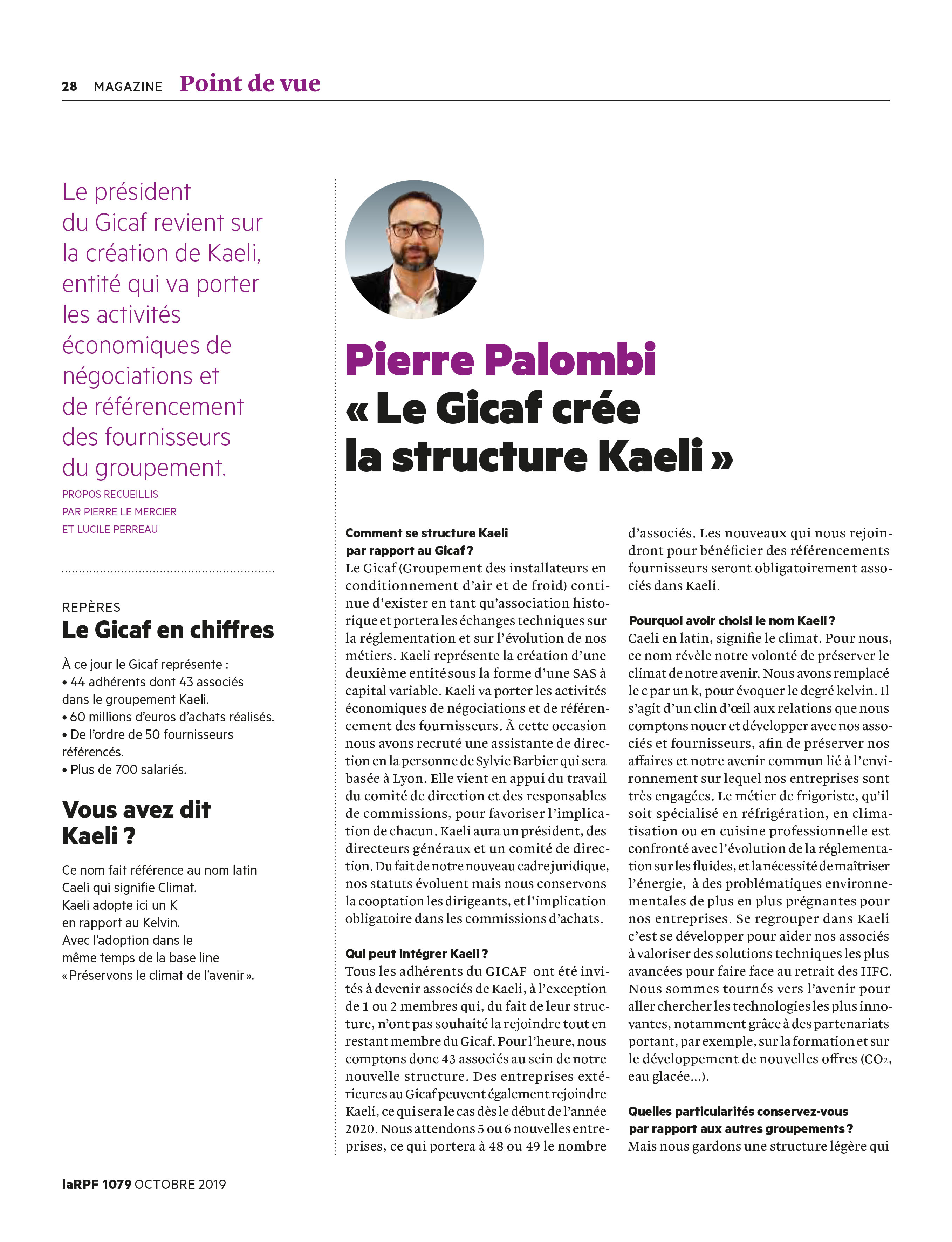 Article La RPF - KAELI